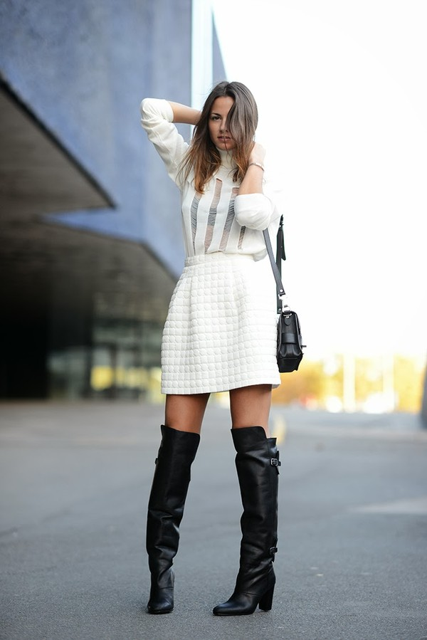fashion vibe skirt sweater bag shoes