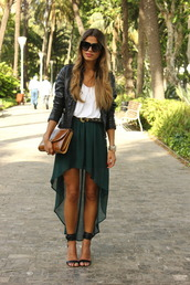 seams for a desire,jacket,t-shirt,skirt,belt,shoes,bag,jewels,white shirt,black shoes,green,military style,army green,asymmetrical,fashion,outfit,girl,clothes,trendy,blue,turquoise,heels,beautiful,design,uneven,unequal,irregular,amazing,gorgeous,leather jacket,grunge,girly,girly grunge,high-low dresses,green skirt,pants,shirt,long skirt,long skirt with bow,long high low skirt,dark green,white crop tops,swag,summer,black leather jacket,zara,teal skirt,emerald green