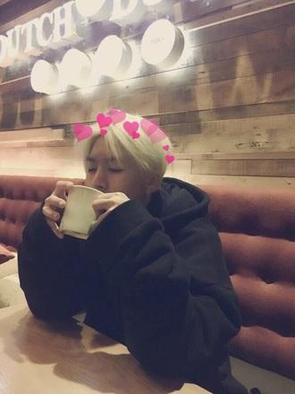 sweater black hoodie hojoon kpop korean fashion