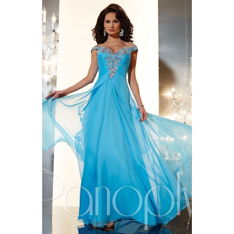 Apricot Panoply 14636 - Plus Size Cap Sleeves Chiffon Dress - Customize Your Prom Dress