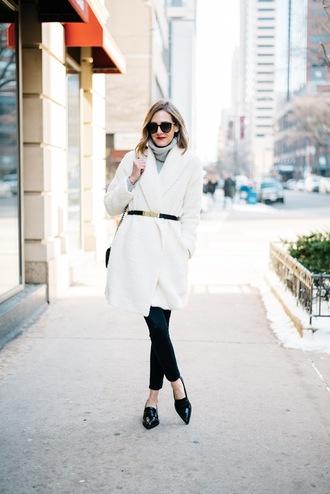 see jane blogger coat belt jeans shoes