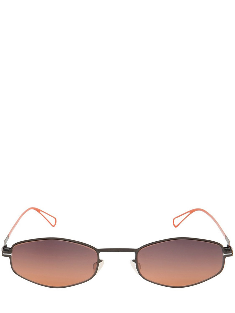 MYKITA Lightweight Metal Frame Sunglasses in red