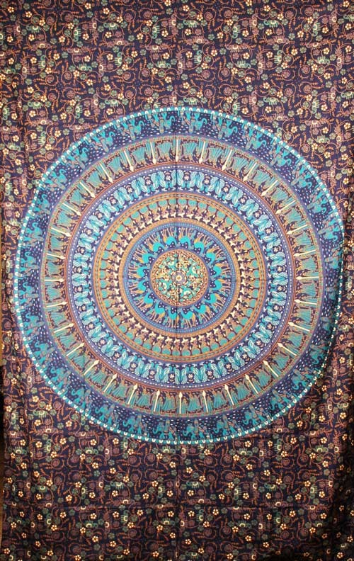 Elephant Tapestry Wall Hanging kingdom mandala - elephant tapestry, peacock wall hanging, camel