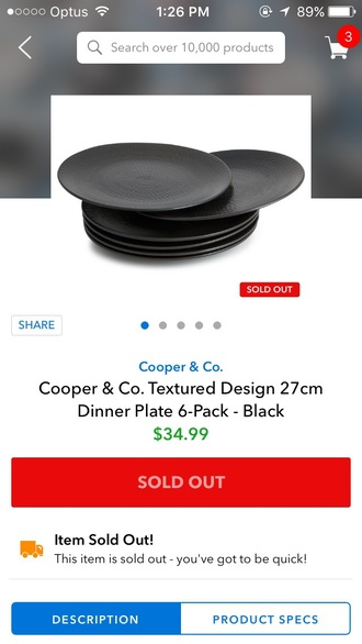 home accessory dinnerware black