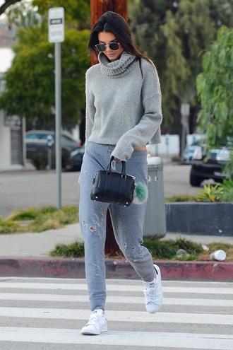 sweater kendall jenner grey sweater