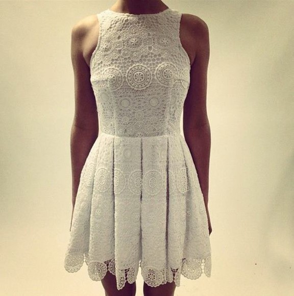 lace dress white lace dress