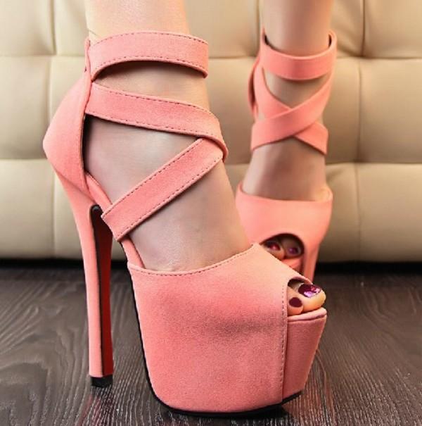 shoes platform shoes platform high heels high heels cute cute high heels summer summer shoes pink coral coral pink