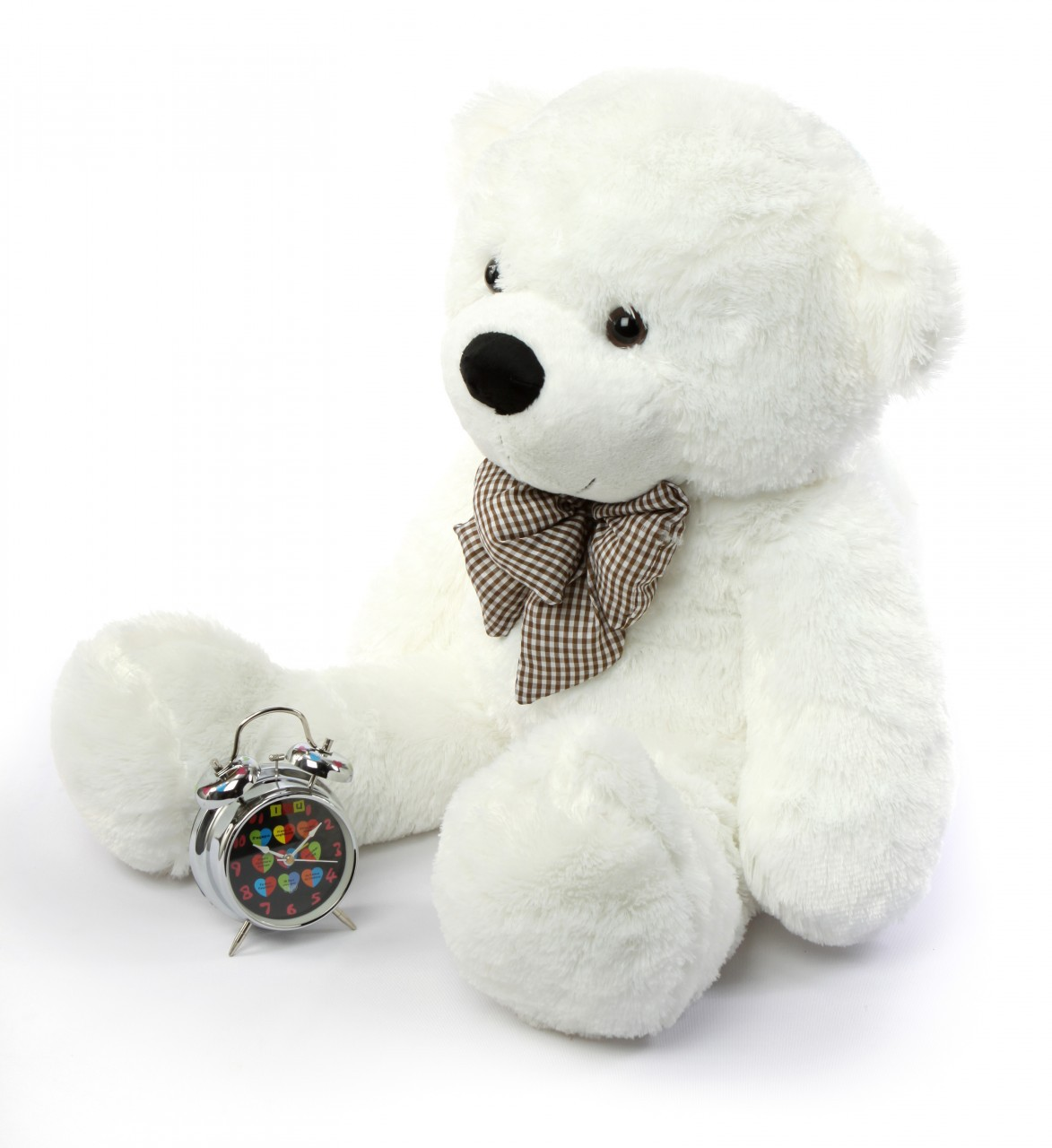 Coco Cuddles Soft And Huggable Plush White Teddy Bear 38in