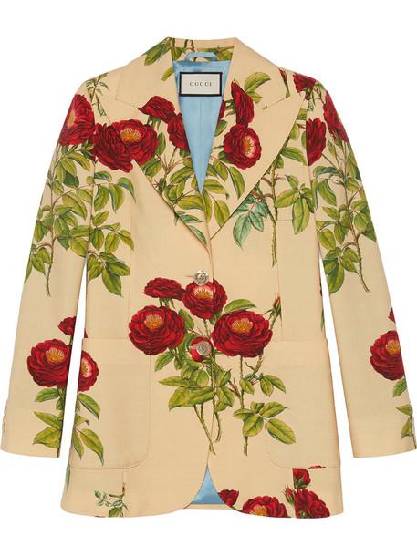 gucci jacket rose women mohair print wool velvet purple pink