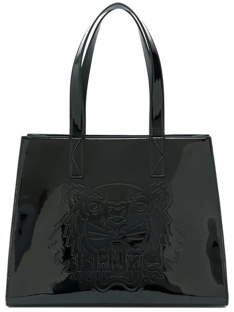 Kenzo women tiger cotton black bag