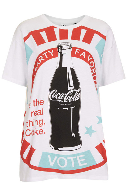 t-shirt coca cola tee by tee and cake coca cola t-shirt coca cola t-shirt white tee and cake topshop