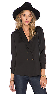 L'Academie The Military Blouse in Black from Revolve.com