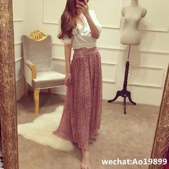skirt long skirt colourful skirt vintage
