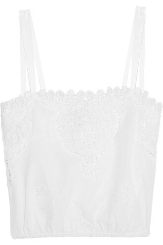 top cropped white cotton