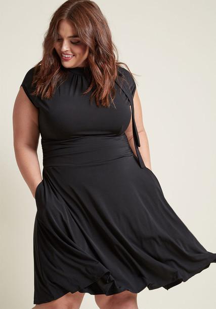 MDD1155 dress black dress bow retro dance pretty black