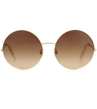 sunglasses round sunglasses brown