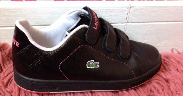 969bf88c6a67c4 shoes lacoste trainers high tops black pink high tops shoes black and pink lacoste  shoes sportswear
