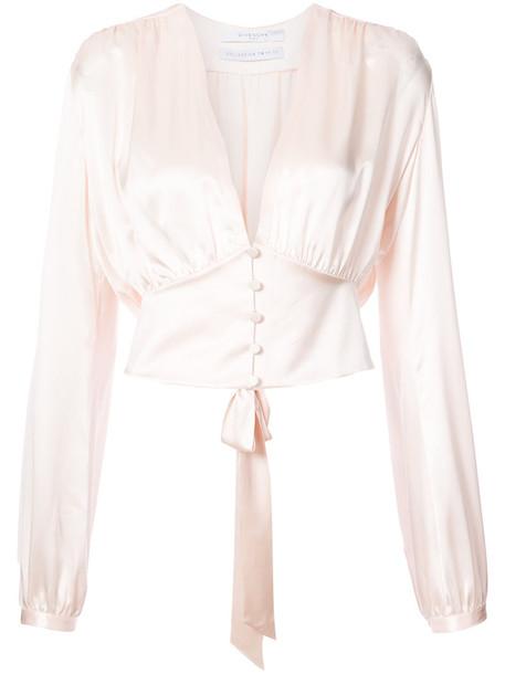Givenchy blouse women silk purple pink top