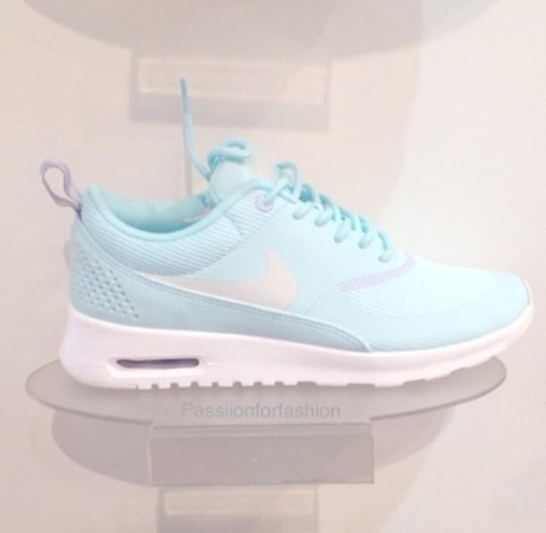 shoes, ice, blue, nike, nike air max thea, air max, workout ...