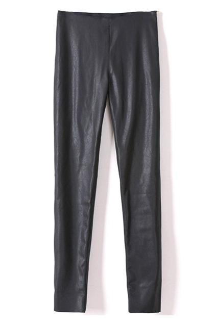 ROMWE | Zippered Elastic Black Skinny Pants, The Latest Street Fashion
