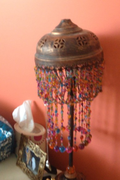 bohemian hippy gypsy bag lamp beads moroccan colourful lamp beaded lamp
