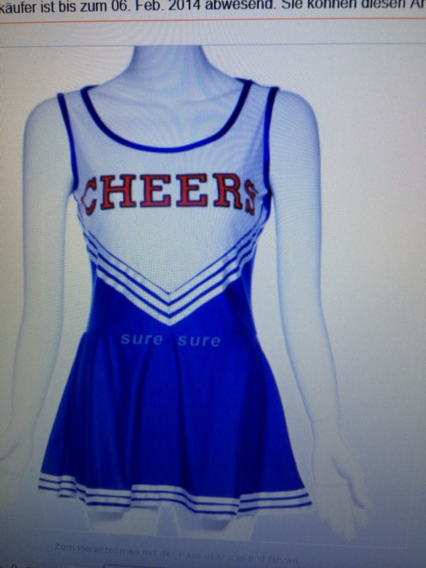 dress cheerleading blue small