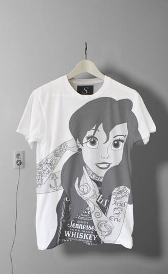 t-shirt tee-shirt disney clothes disney disney punk black and white