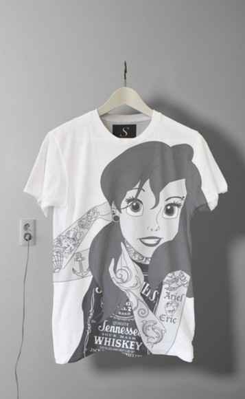 black and white t-shirt tee-shirt disney clothes disney disney punk