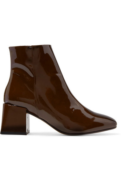 LOQ - Lazaro Patent-leather Ankle Boots - Brown