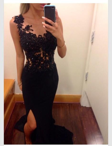 dress long dress black dress