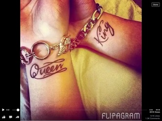 nail accessories tattoo cute queen king couples