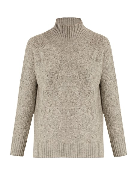 Allude sweater high wool light grey