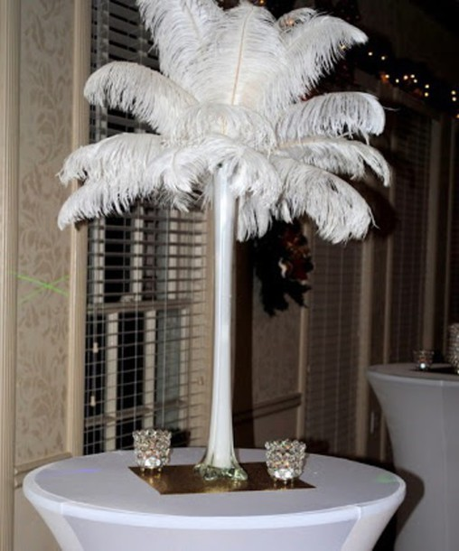 home accessory feathers vase white or black