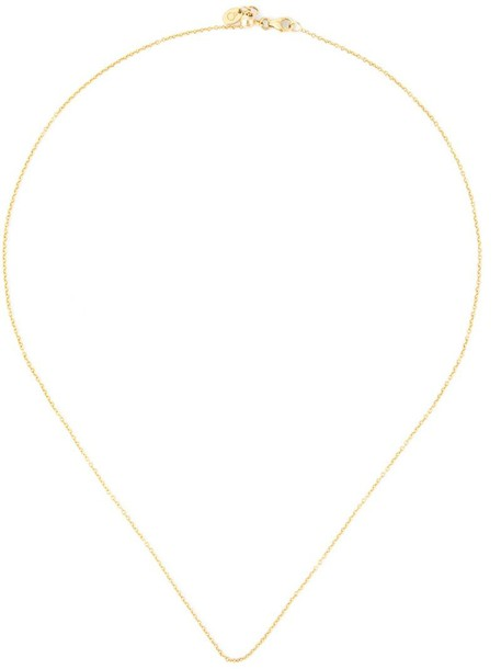 LOQUET chain necklace short women necklace gold grey metallic jewels
