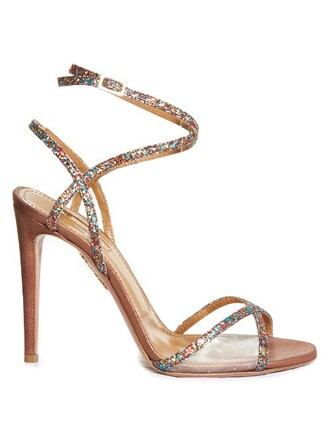 glitter sandals suede shoes