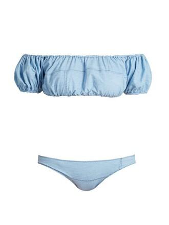 bikini denim patchwork light swimwear