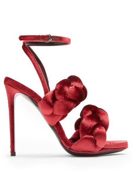 velvet sandals sandals velvet red shoes