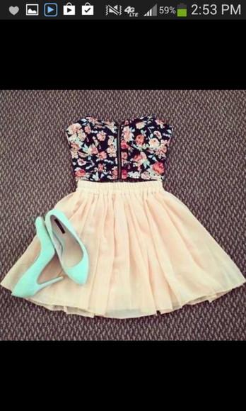 skirt pink skirt blouse top