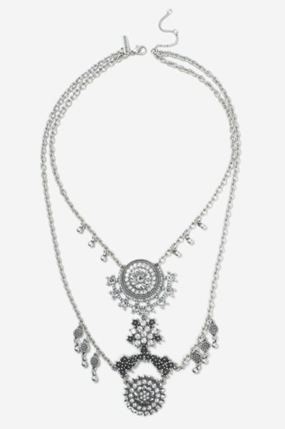 Topshop collar necklace clear necklace ethnic jewels