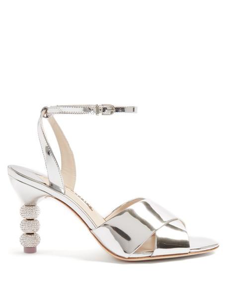Sophia Webster heel embellished sandals leather sandals leather silver shoes