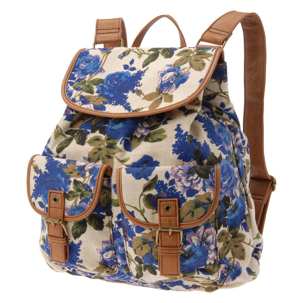 bag backpack floral trendy floral backpack