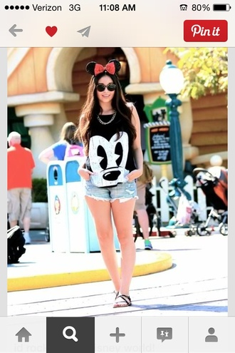 tank top mickey mouse mickey mouse shirt black face on top disney shirt top t-shirt blouse disneyland bl