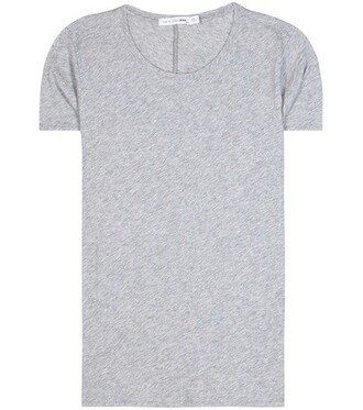 t-shirt shirt cotton t-shirt cotton grey top