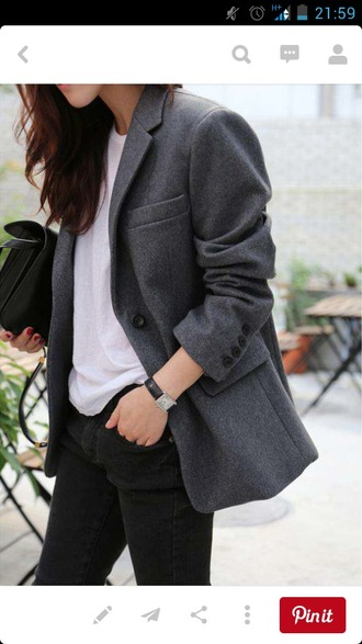 coat ovesized jacket oversized coat boyish maxi blazer gray grey coat winter outfits oversized blazer grey blazer boyfriend coat