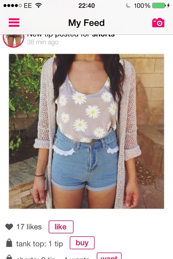 shirt blouse shorts cardigan cute flowers purple blue jean shorts High waisted shorts high waisted denim shorts purple shirt purple blouse jacket coat sweater daisy floral tank top cute sweaters cut off shorts tumblr pink top grey denim knit singlet High waisted shorts hot pants lace girly summer summer top summer shorts tank top denim shorts High waisted shorts sunflower floral pretty hipster