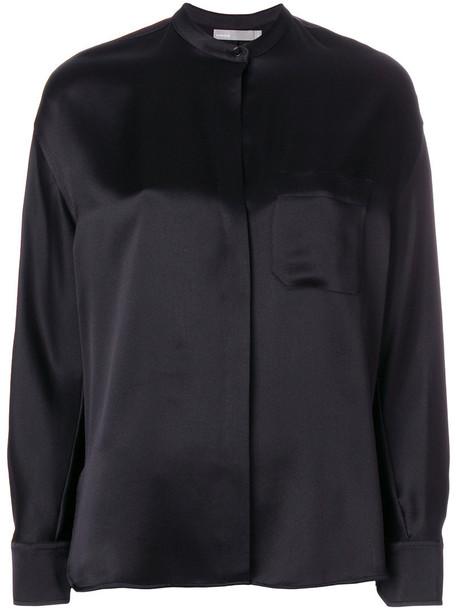 Vince blouse women black silk top