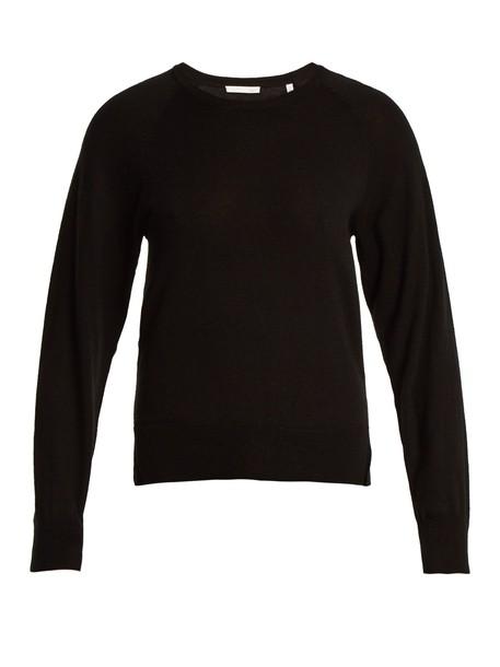 Skin sweater wool knit black