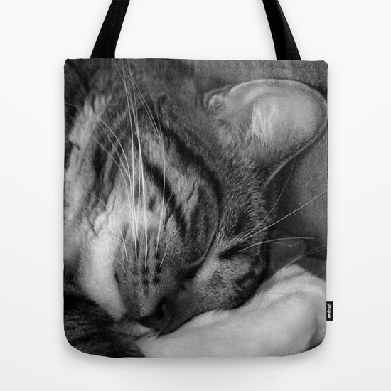 Tiger in my bed Tote Bag by AhaC
