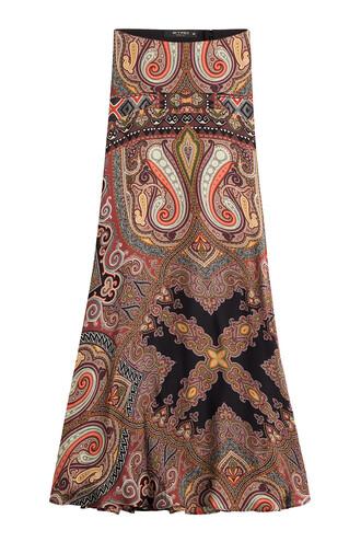 skirt maxi skirt maxi silk multicolor