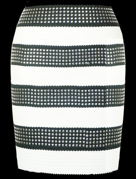 skirt silver silver skirt studded skirt bandage skirt